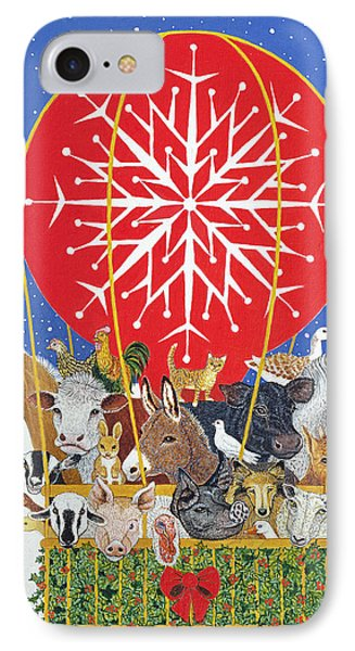 Christmas Journey Oil On Canvas IPhone Case by Pat Scott