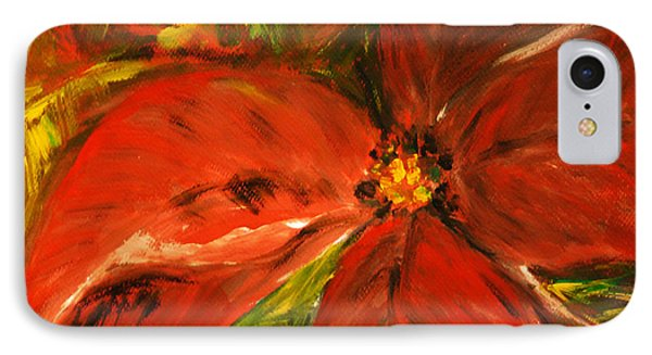 IPhone Case featuring the painting Christmas Star by Jasna Dragun