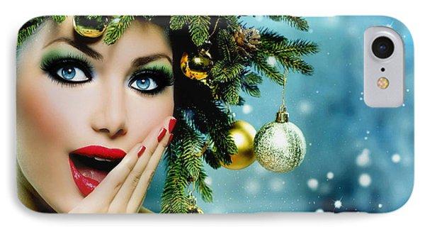 IPhone Case featuring the digital art Christmas Joy by Karen Showell