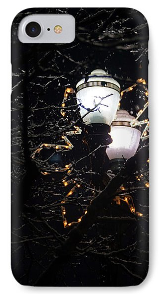 Christmas Light Post - Grants Pass Phone Case by Mick Anderson