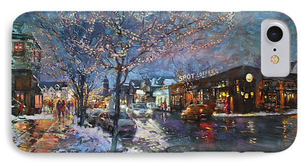 Christmas Lights In Elmwood Ave  IPhone Case