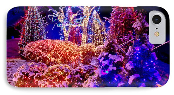 Christmas Lights In The Park IPhone Case
