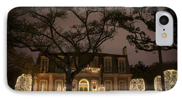 IPhone Case featuring the photograph Christmas Lights On St Charles Avenue by Ray Devlin