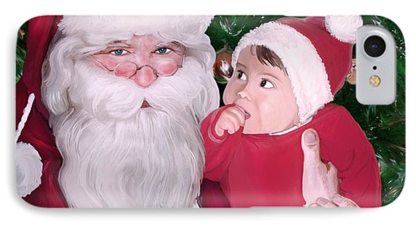 Christmas Moments With Santa Claus IPhone Case by Gina Dsgn