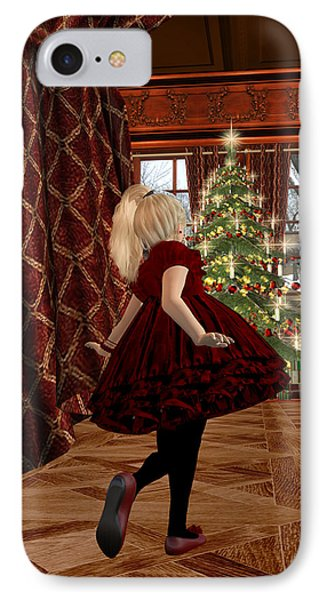 Christmas Morning IPhone Case by Kylie Sabra
