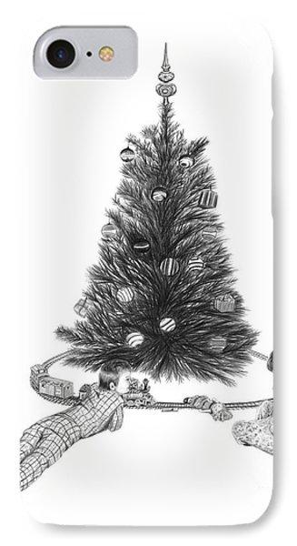 Christmas Morning Play  Phone Case by Peter Piatt