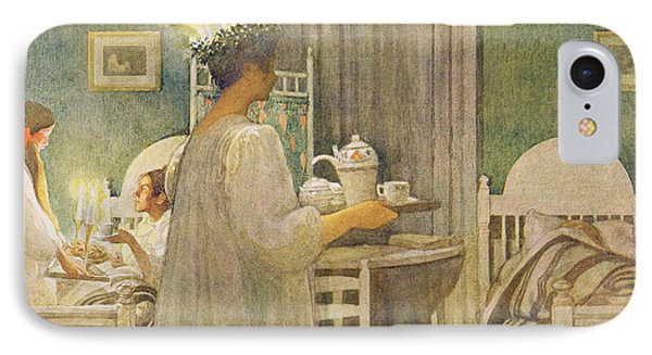 Christmas Morning, Pub. In Lasst Licht IPhone Case by Carl Larsson