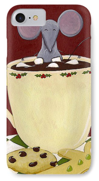 Christmas Mouse Phone Case by Christy Beckwith