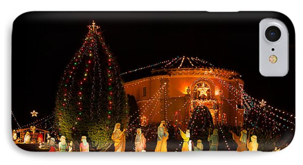 IPhone Case featuring the photograph Christmas Nativity Scene by Ram Vasudev