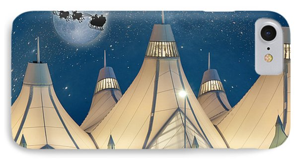 Christmas Night At Denver International Airport IPhone Case by Juli Scalzi
