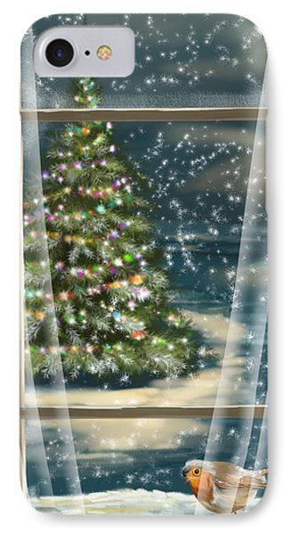 Christmas Night Phone Case by Veronica Minozzi