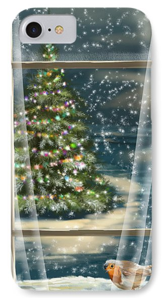 Christmas Night IPhone Case by Veronica Minozzi