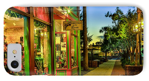 IPhone Case featuring the photograph Sunset Christmas Store by Paula Porterfield-Izzo