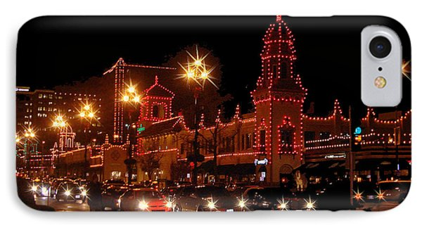 Christmas On The Plaza IPhone Case by Ellen Tully