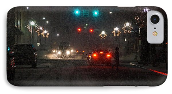 Christmas On The Streets Of Grants Pass Phone Case by Mick Anderson