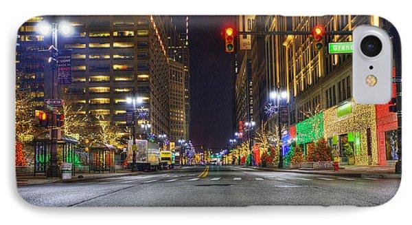Christmas On Woodward IPhone Case by Nicholas  Grunas