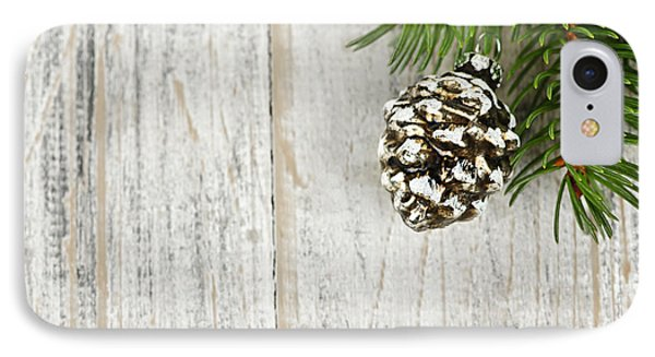 Christmas Ornament On Pine Branch IPhone Case by Elena Elisseeva
