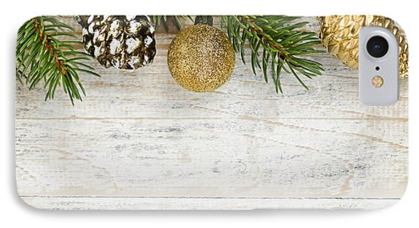 Christmas Ornaments On Fir Branch IPhone Case