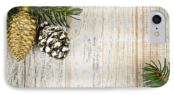 Christmas Ornaments With Pine Branches IPhone Case