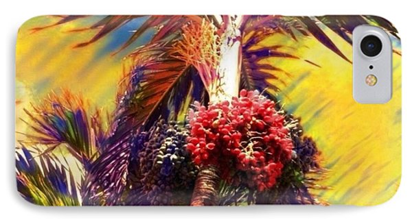 Christmas Palm Tree In Yellow - Square IPhone Case by Lyn Voytershark