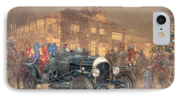 Christmas Party At Brooklands IPhone Case by Peter Miller