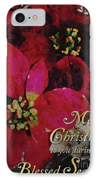 IPhone Case featuring the photograph Christmas Poinsettia by Cheryl McClure