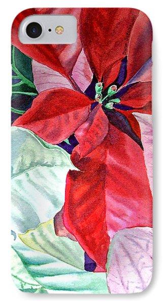 Christmas Poinsettia Phone Case by Irina Sztukowski