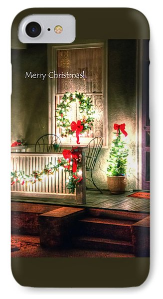 Christmas Porch IPhone Case by Jerry Sodorff