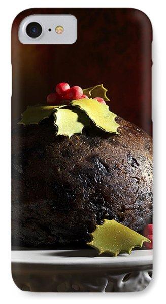 Christmas Pudding IPhone Case by Amanda Elwell