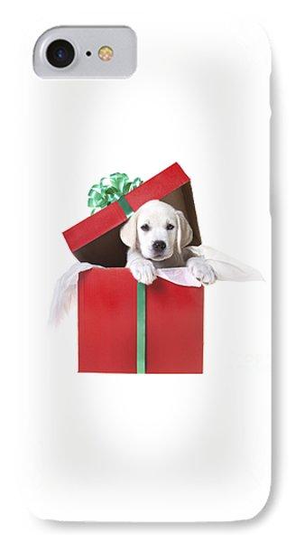 Christmas Puppy Phone Case by Diane Diederich