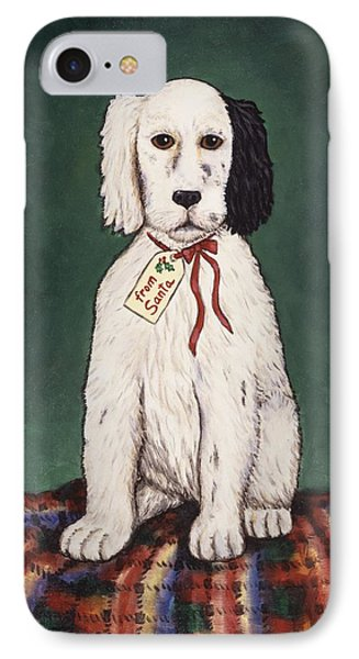 Christmas Puppy Phone Case by Linda Mears