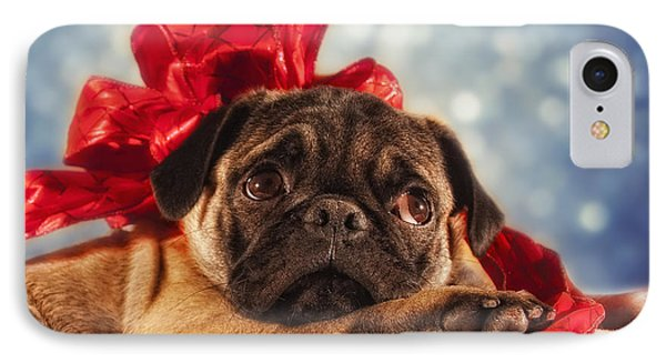 Christmas Puppy IPhone Case by Van K Bazaldua