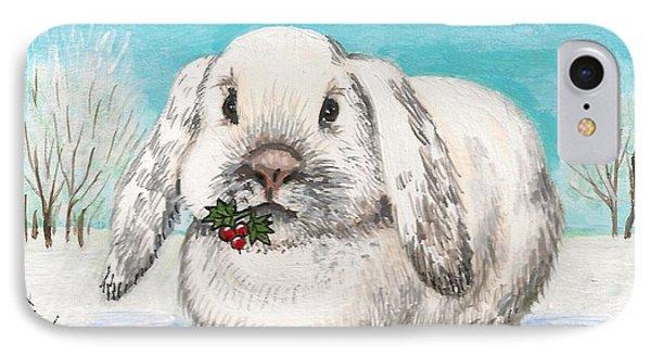 Christmas Rabbit Phone Case by Margaryta Yermolayeva