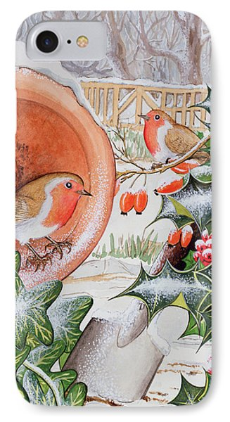 Christmas Robins IPhone 7 Case by Tony Todd