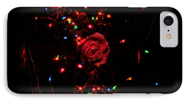 Christmas Rose IPhone Case by Diane Lent
