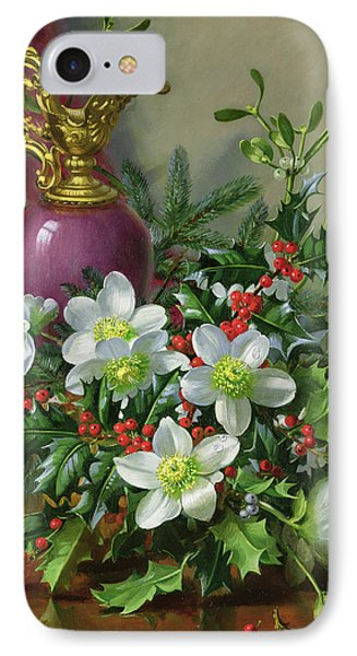 Christmas Roses IPhone Case by Albert Williams