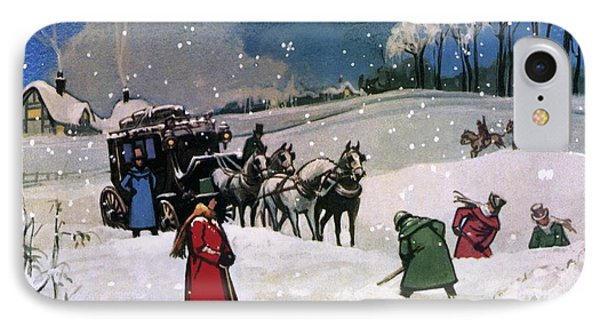Christmas Scene Phone Case by English School