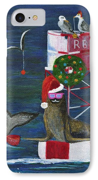 Christmas Seal And Friends IPhone Case by Jamie Frier