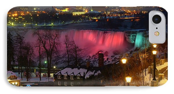 Christmas Spirit At Niagara Falls - Holiday Card Phone Case by Lingfai Leung