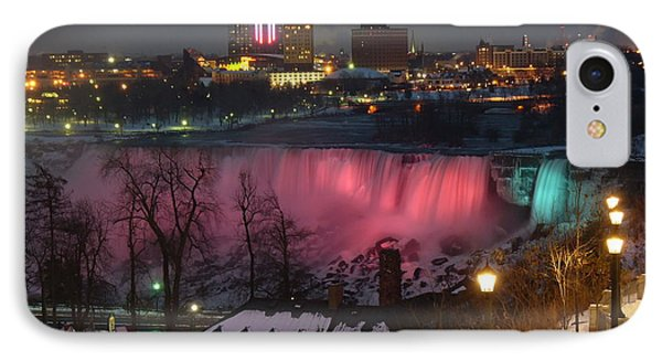 IPhone Case featuring the photograph Christmas Spirit At Niagara Falls by Lingfai Leung