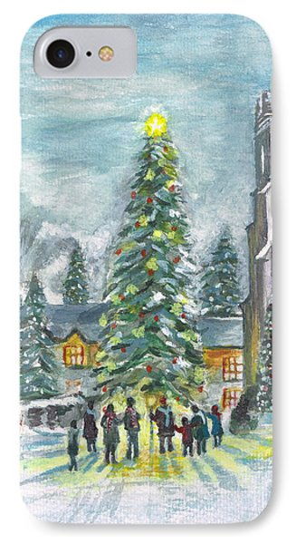 IPhone Case featuring the painting Christmas Spirit by Teresa White
