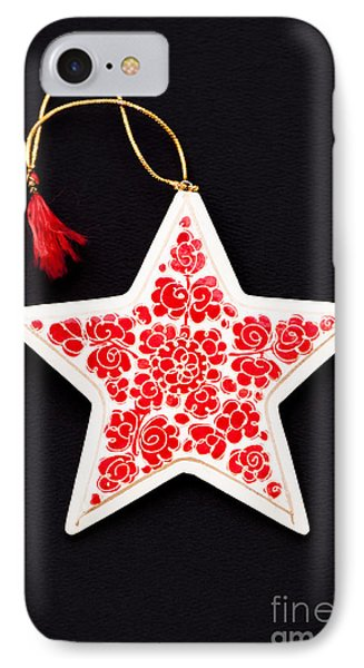 Christmas Star Phone Case by Anne Gilbert
