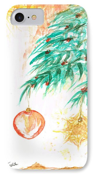 IPhone Case featuring the painting Christmas Star by Teresa White