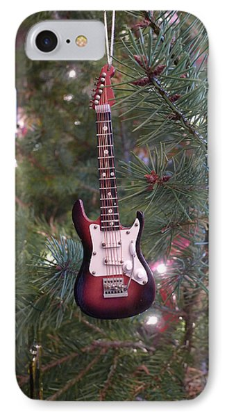 Christmas Stratocaster IPhone Case by Richard Reeve