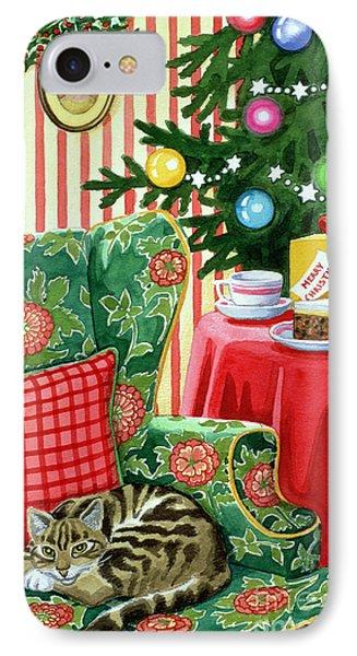 Christmas Tea Phone Case by Lavinia Hamer