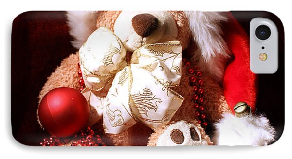 Christmas Teddy IPhone Case by Terri Waters