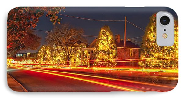IPhone Case featuring the photograph Christmas Town Usa by Alex Grichenko