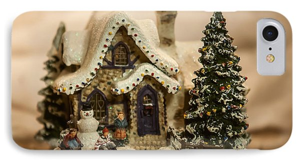 IPhone Case featuring the photograph Christmas Toy Village by Alex Grichenko