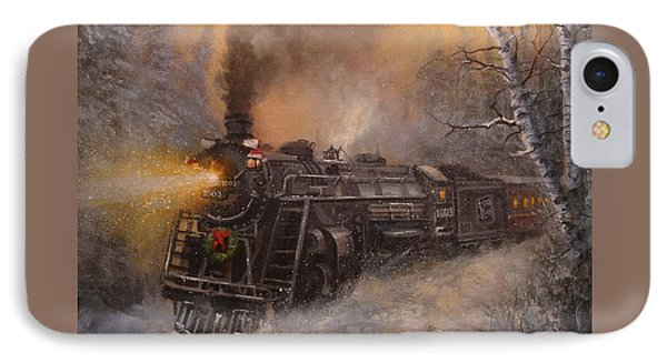 Christmas Train In Wisconsin Phone Case by Tom Shropshire