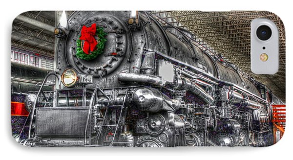 Christmas Train-the Holiday Station IPhone Case by Dan Stone